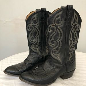 Tony Lama Smooth Ostrich Leather Boots